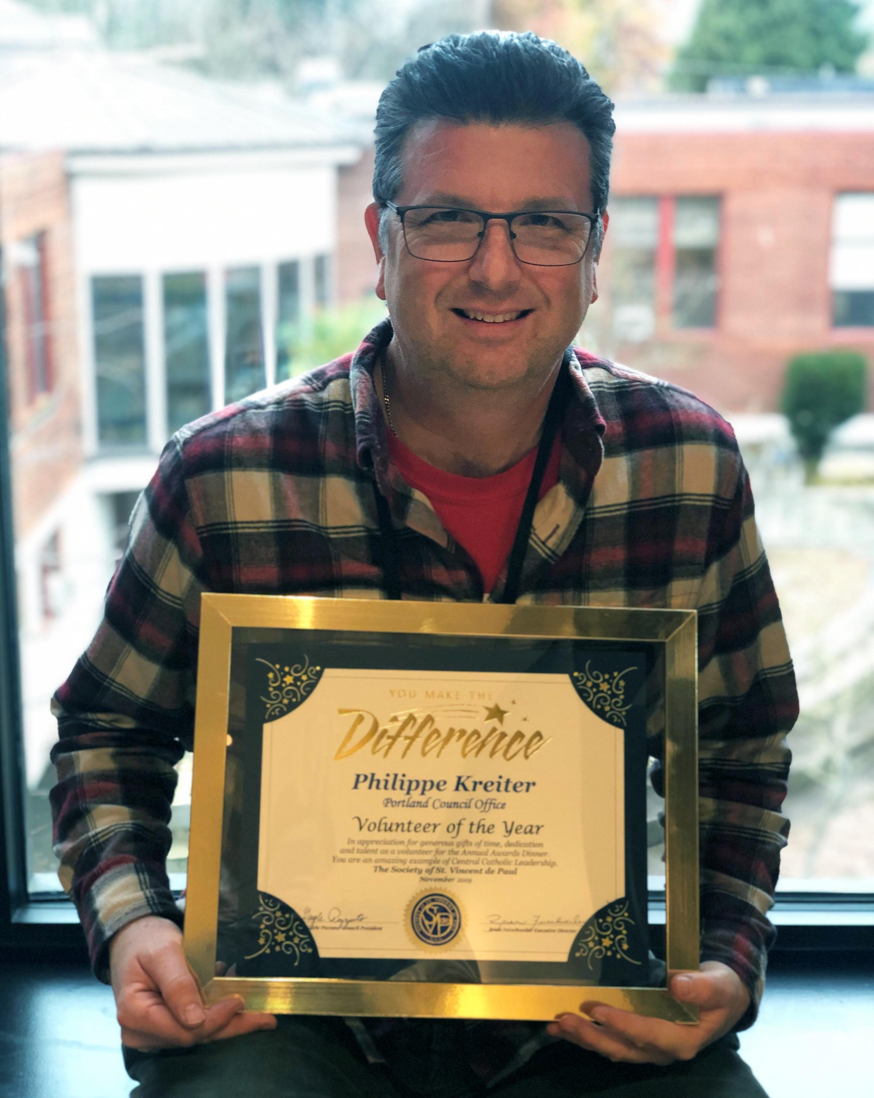 Mr. Kreiter Recognized as Volunteer of the Year