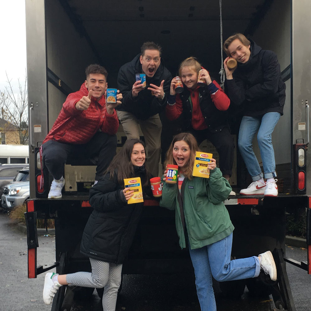The Central Catholic Community Food Box Drive