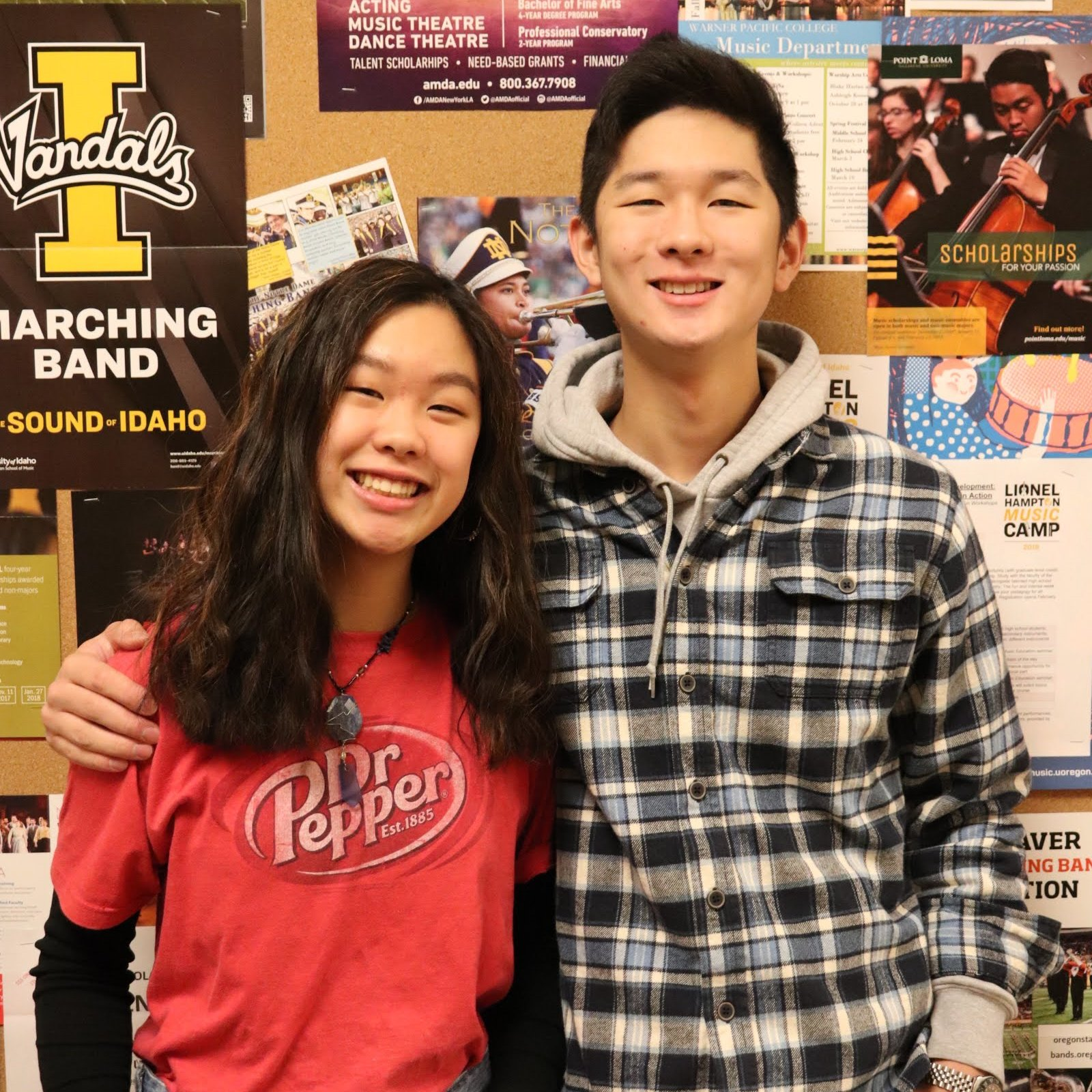 Students selected for All-State and All-Northwest Wind Ensemble