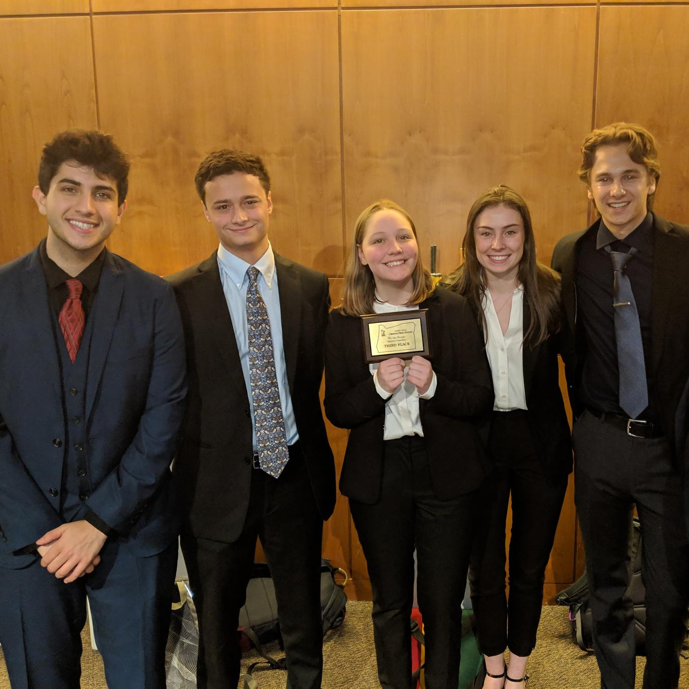 Constitution Team Places Third at Regional Competition