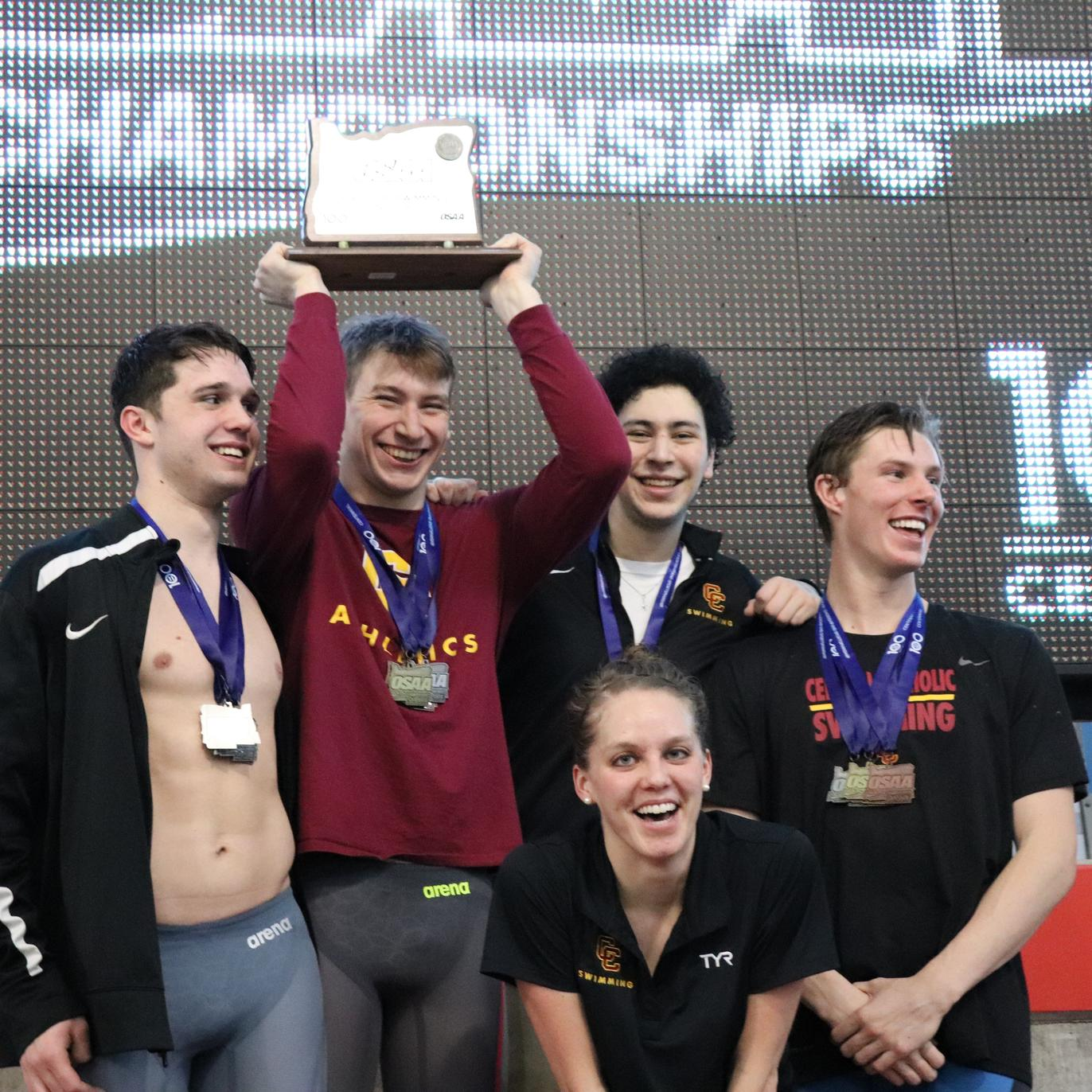 Boys Swimming Places Second in State